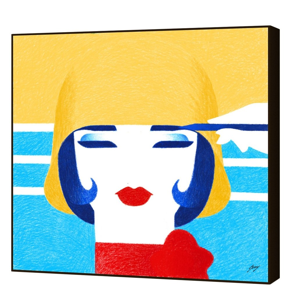 CURIOOS Simone by Almost Famous Studio (Framed Giclee)  $199
