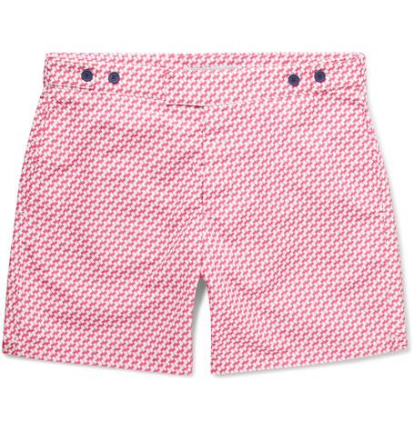 FRESCOBOL CARIOCA Sidewalk Short - Length Printed Swim Shorts $250