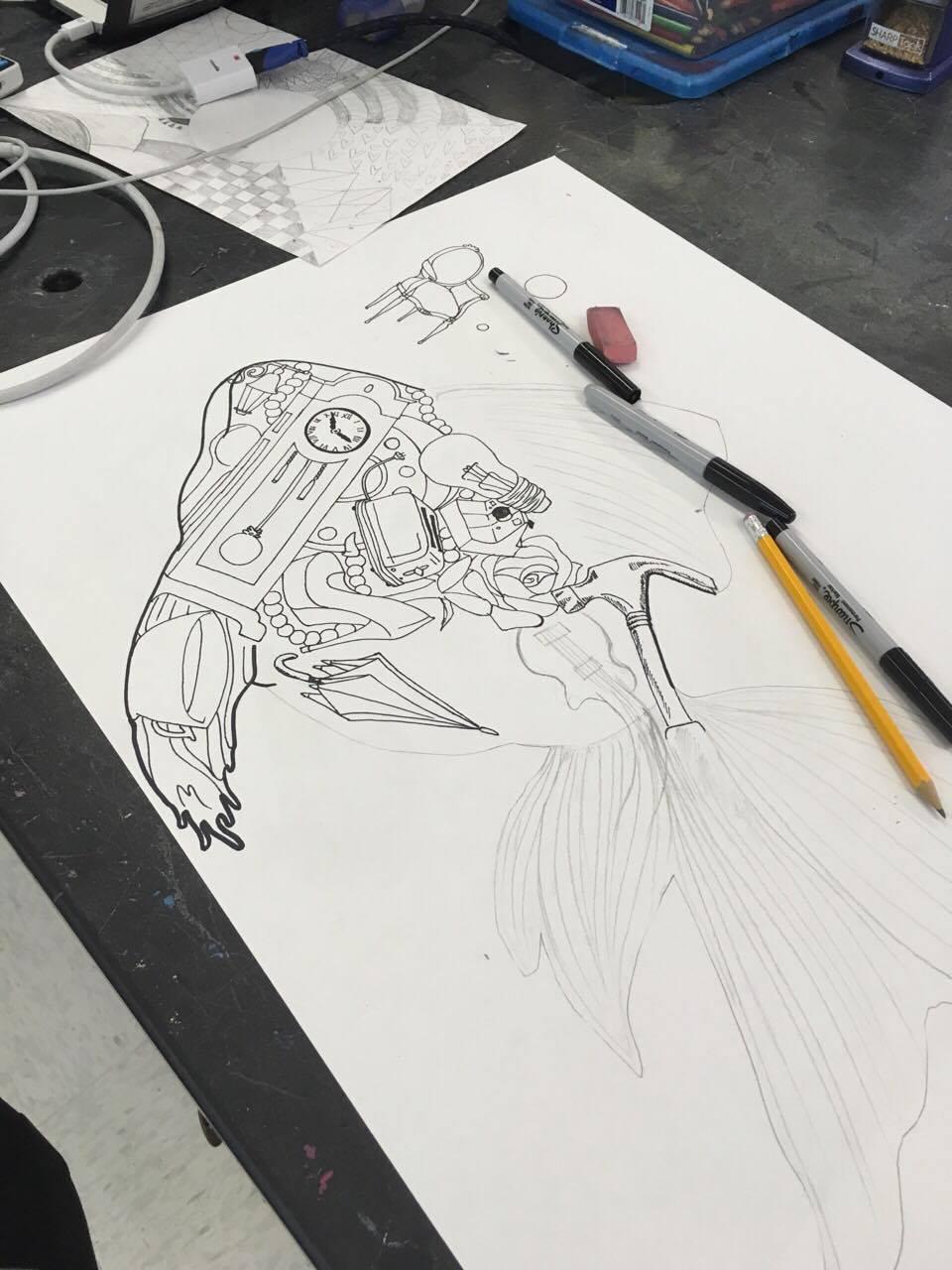 Drawings by Kalissa Bearden