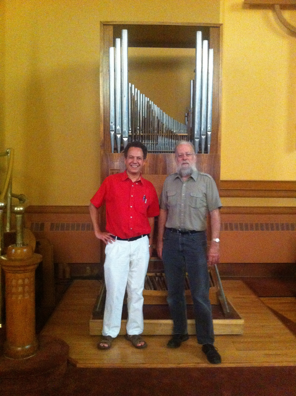 With Michael Barone (behind: Michael's Rieger organ, built in 1956)