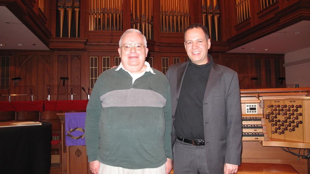 With organist Jeff Davis