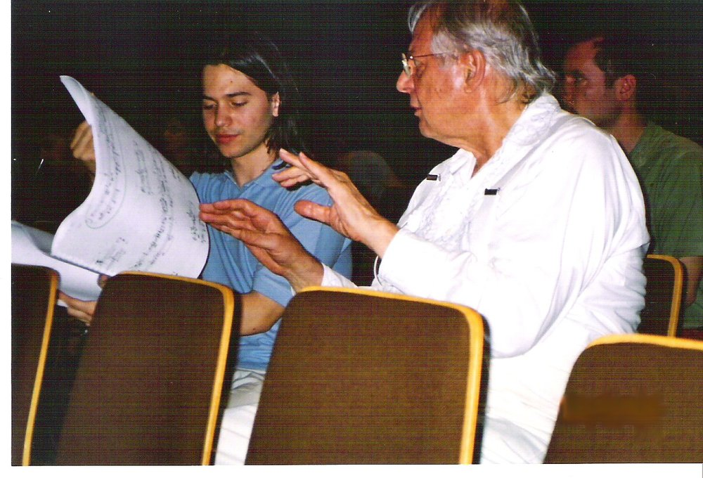 With Karlheinz Stockhausen