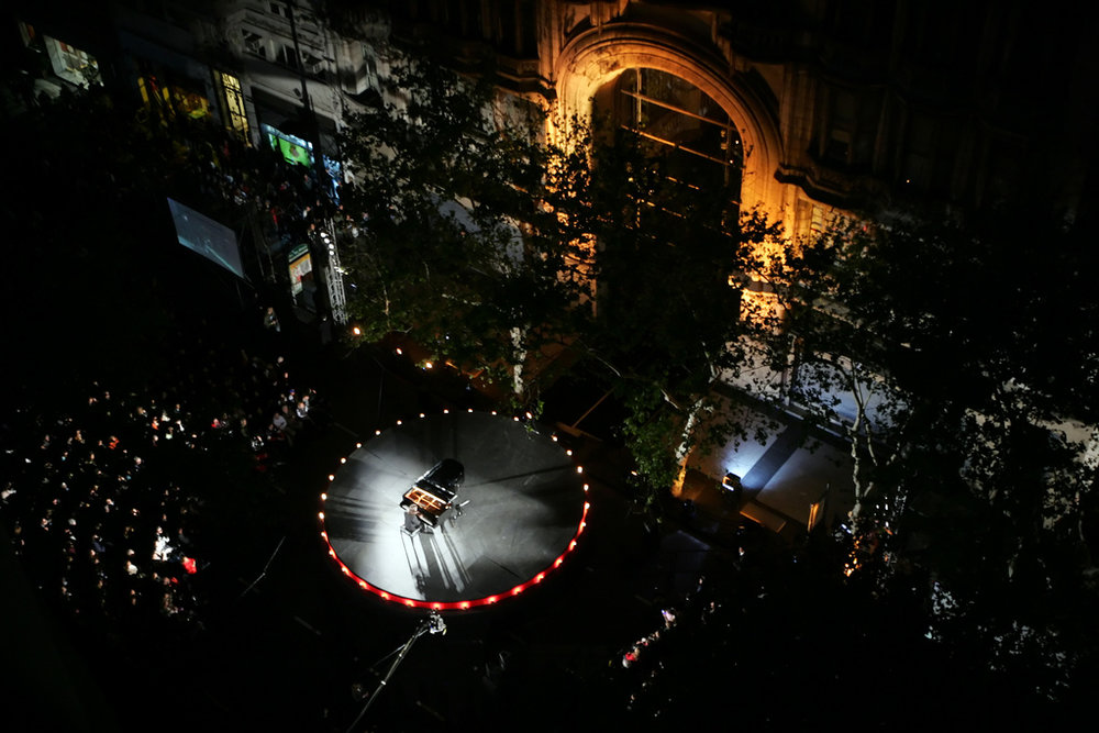 Outdoors recital in Buenos Aires