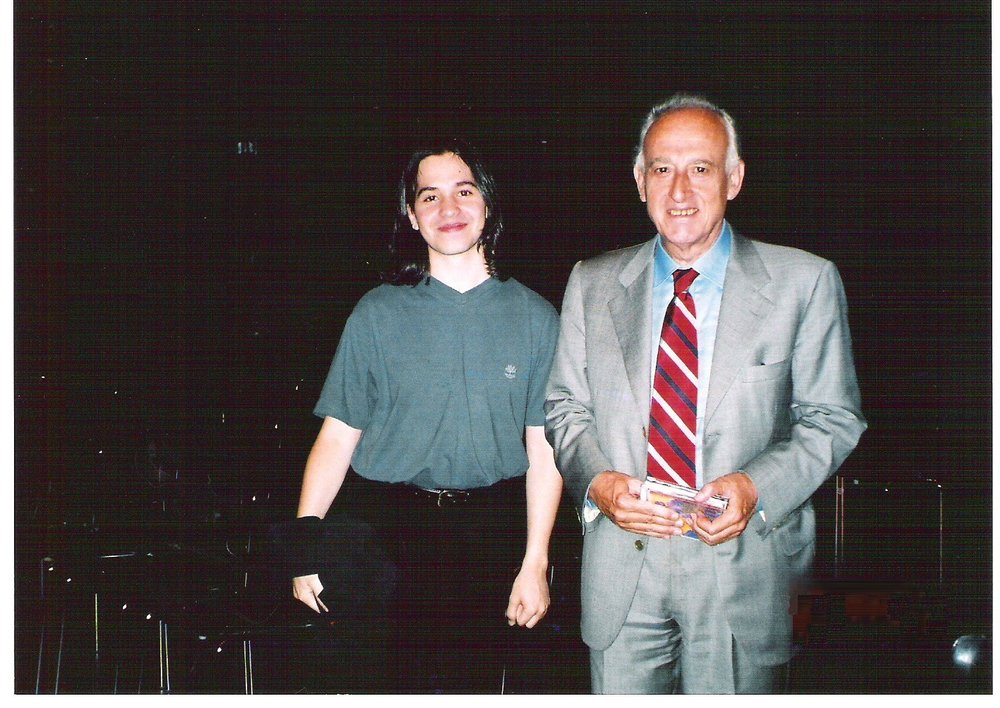 With Maurizio Pollini