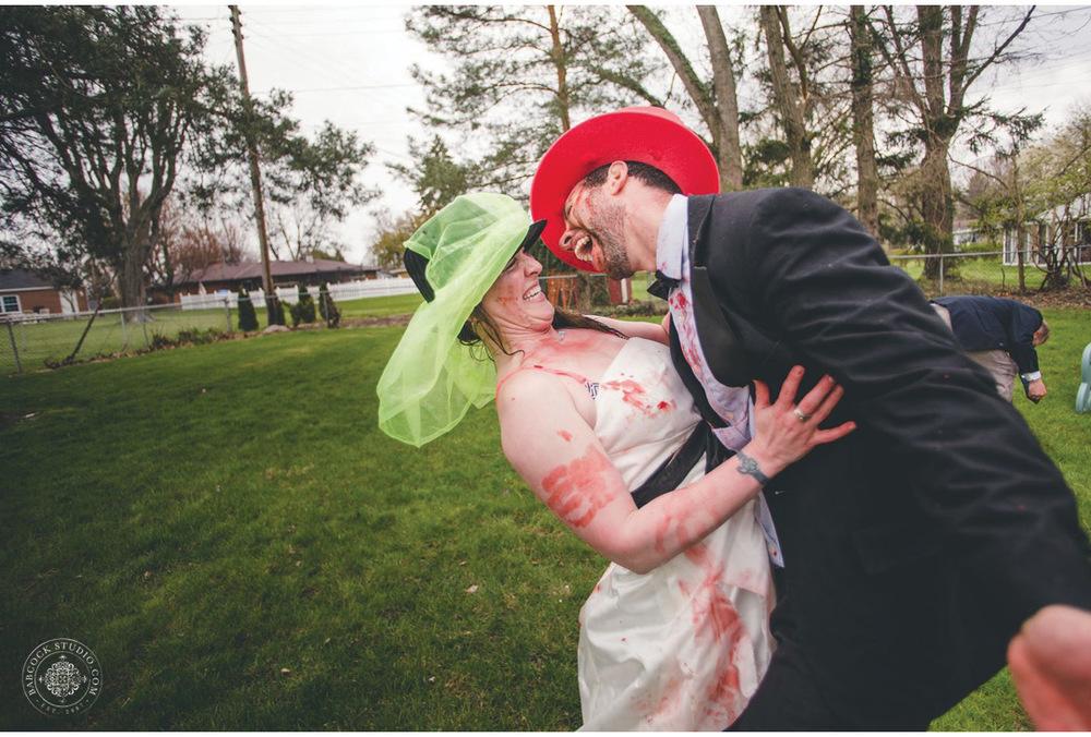 Sarah Babcock Studio.  Dayton Ohio Based photographer. Zombie Wedding Shower.