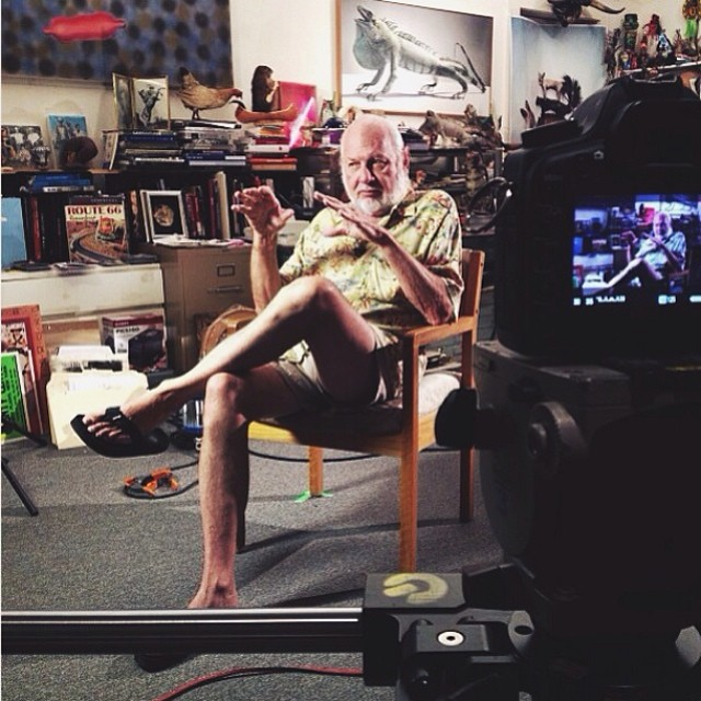 Interview with Bob Wade in his studio. #interview #bobwade #documentary #onset #camera #film #daddy-o #art #studio
