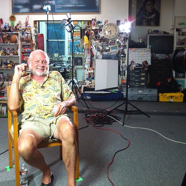 "Behind the scenes with ""Daddy-O"" #documentary #bobwade #film #iguana #interview #onset"