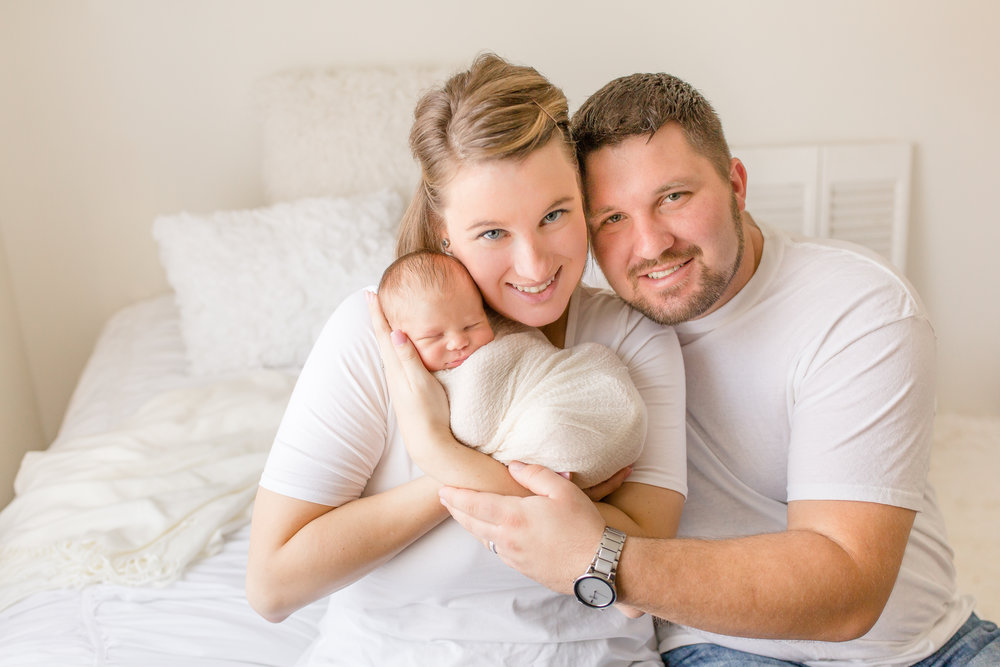 Wiley's parents drove an hour away to see me in my Grove City newborn photo studio.