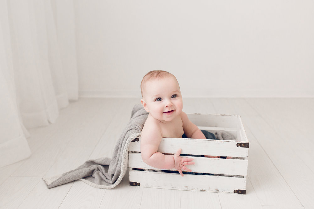 Sarah Cropper Photography - Six Month Old Photo Session - Columbus Baby Photographer