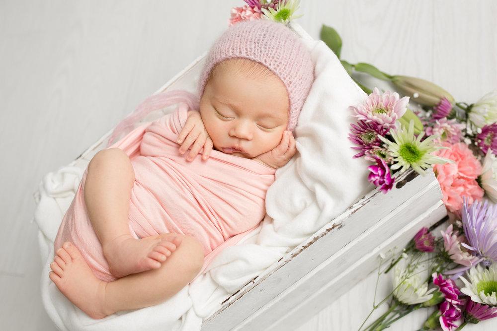 Floral newborn photo columbus ohio newborn photographer
