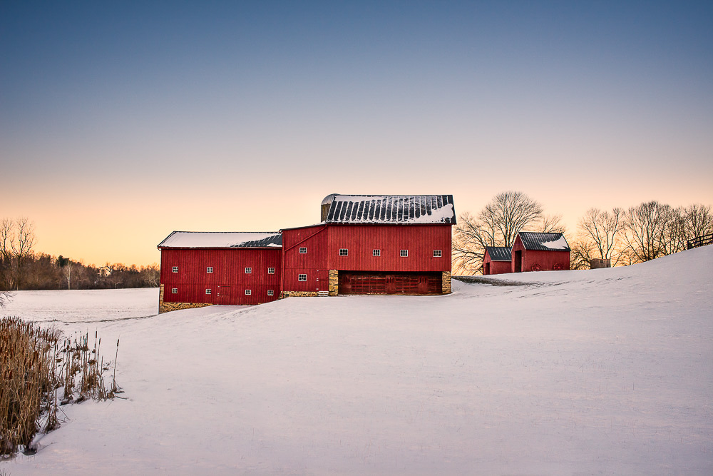 Red Barn, January Dawn