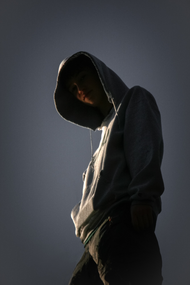 Teenager with Hoodie