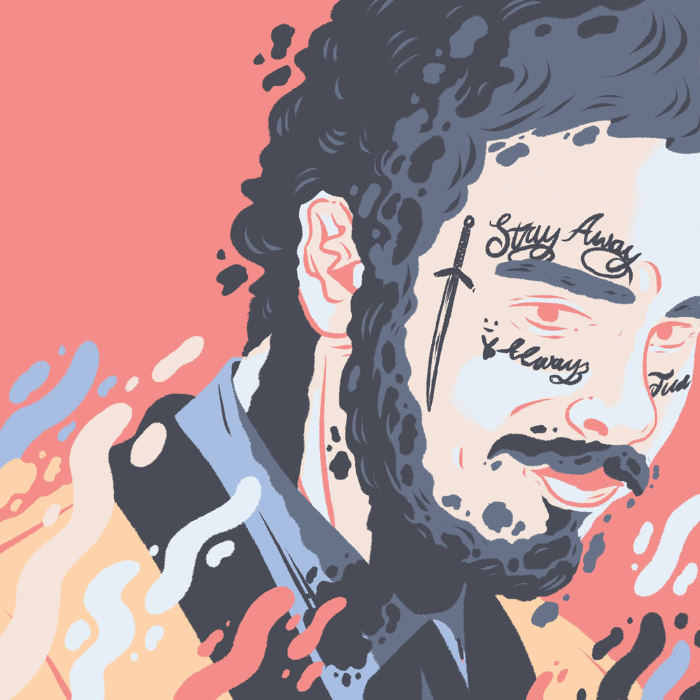 LukeBrookes-PostMalone-Illustration