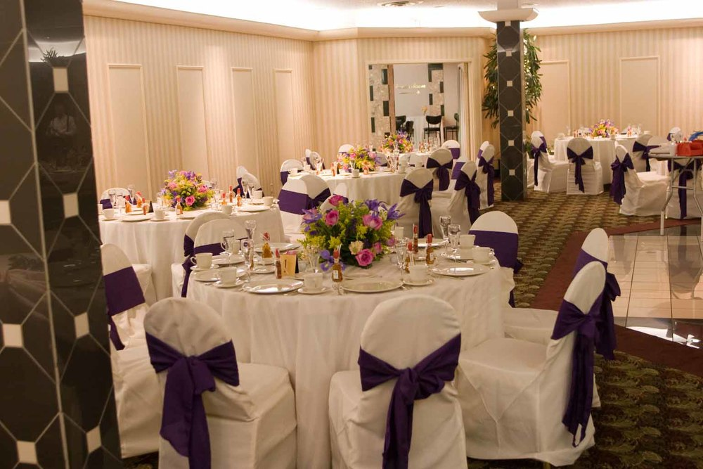 Wedding reception setup Landerhaven