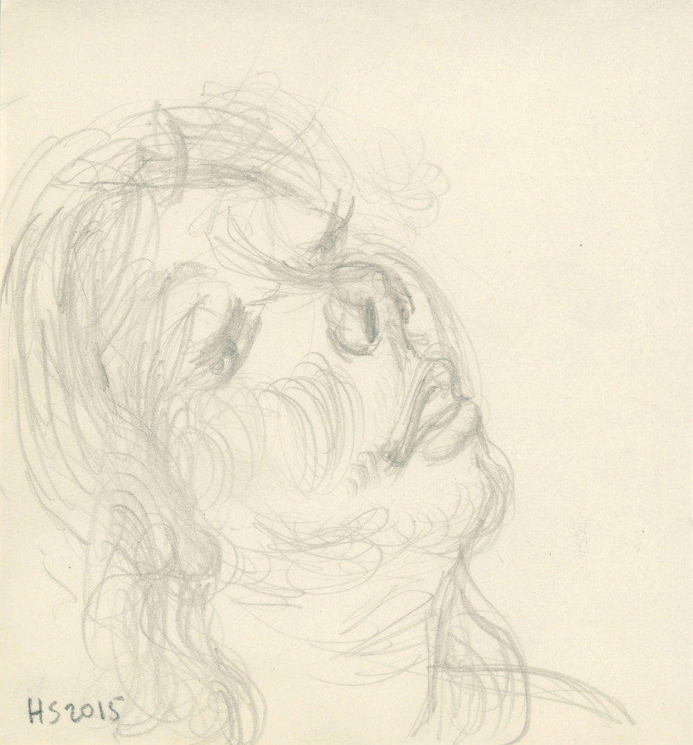 WOMAN LOOKING ASIDE SKETCH
