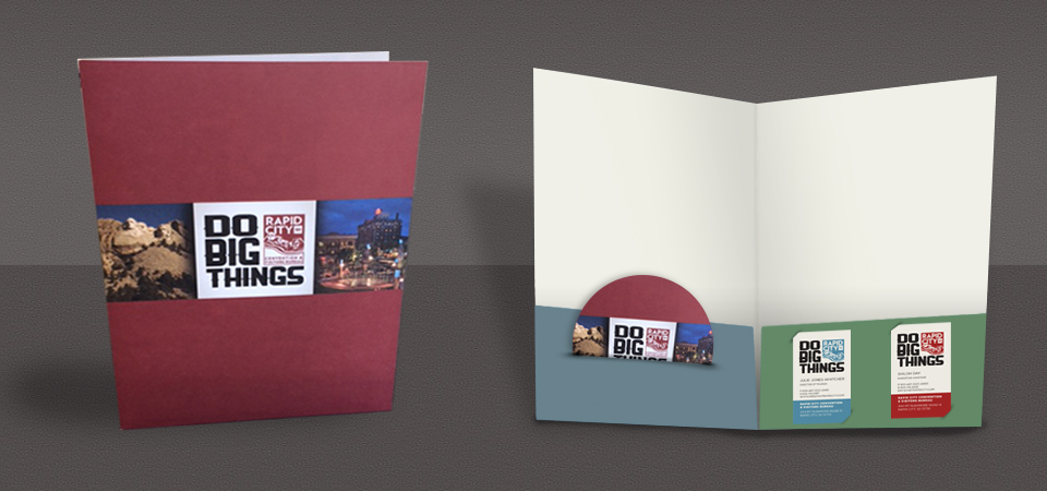 9x12 Folder with DVD, Business Card Slits