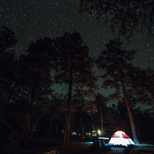 @jacobbykphoto's most recent post inspired me to grab a night time shot. Here's a frame of @rachaellegoubin and I's campsite in Mather Campground just outside of the Grand Canyon, South Rim. #grandcanyon #camping #roadtrip #longexposure #rachaelandtylersbigadventure #nikon