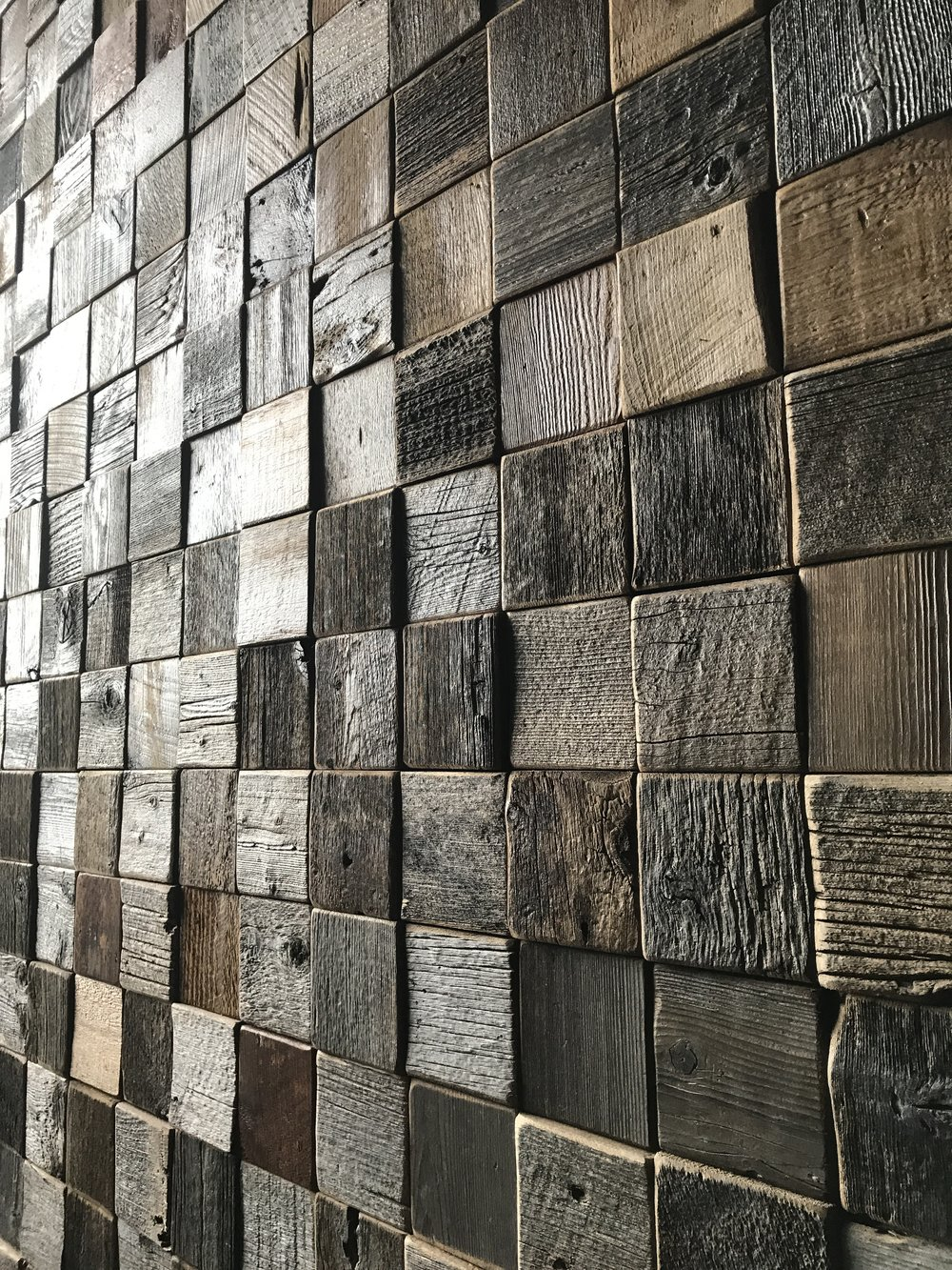 Custom Wood Wall Tiles