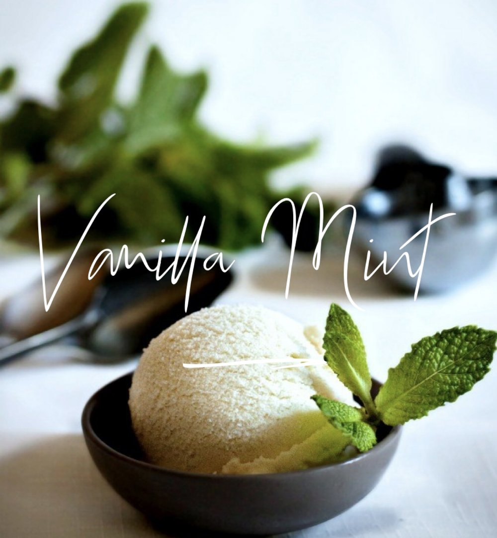 A perfect combination of warm vanilla and fresh mint.
