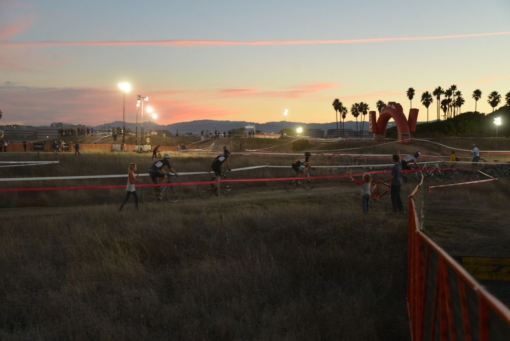 Dusk at the race