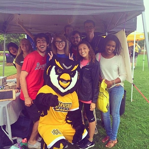Our leadership students at one of KSU's summer orientation