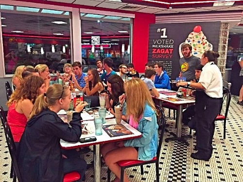 Grabbing some Steak n Shake after Wesley!