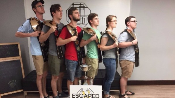 Escaping the Room (the victorious team!)