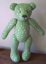 The very first handmade OOAK artist teddy bear by Laura Mirjami.