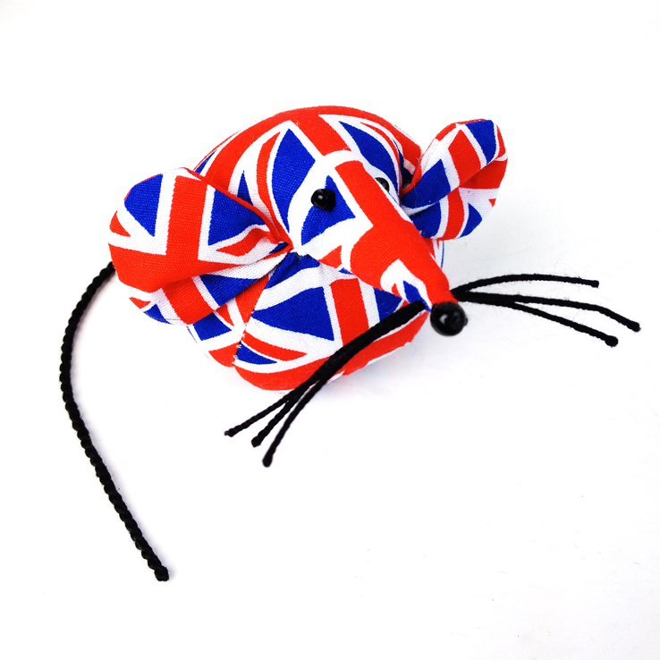 Handmade Union Jack mouse paperweight.