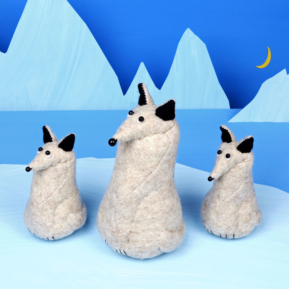 Handmade Fleming the Arctic fox.