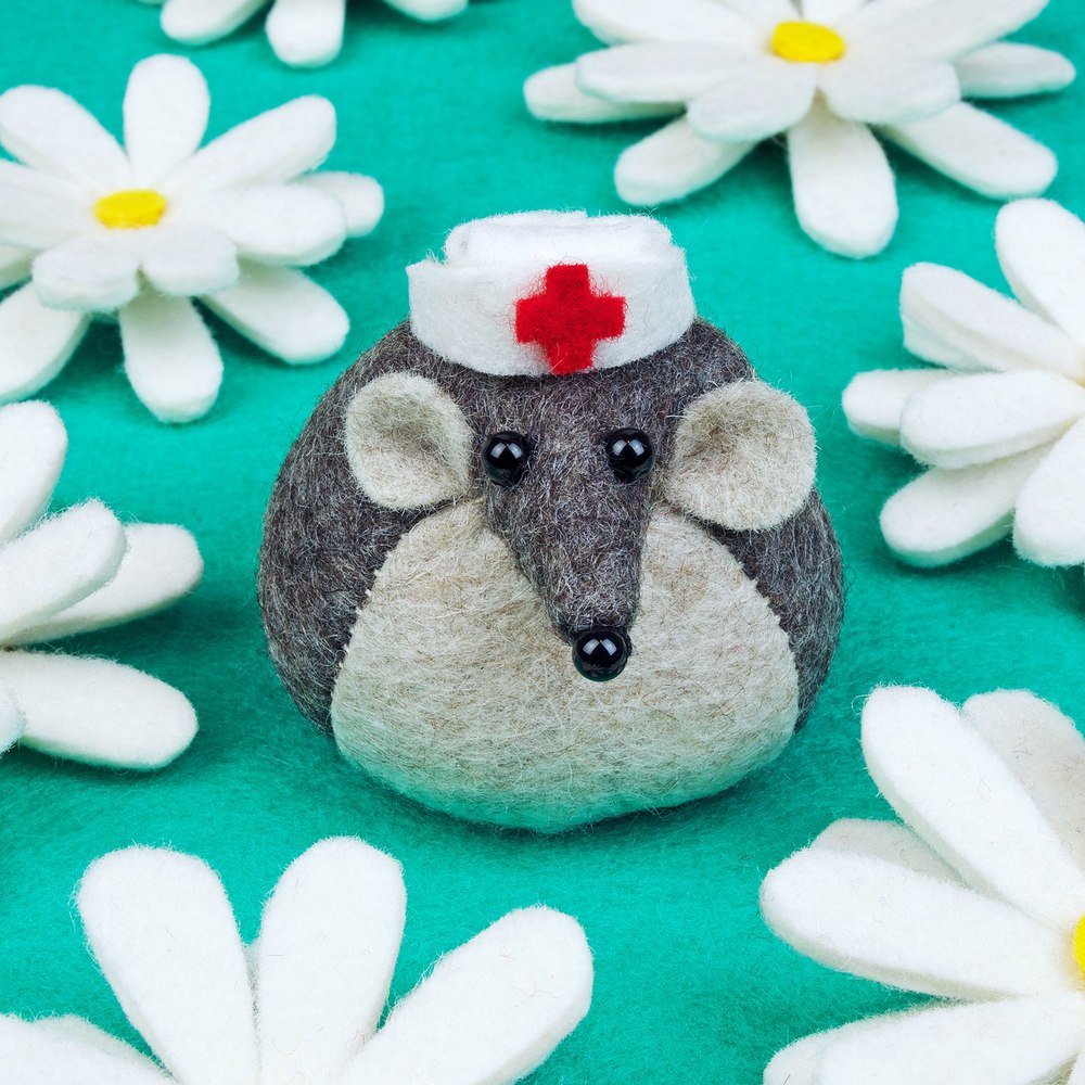 Get well soon mouse greeting card from Bilberry Woods Collection by Mirjami Design.