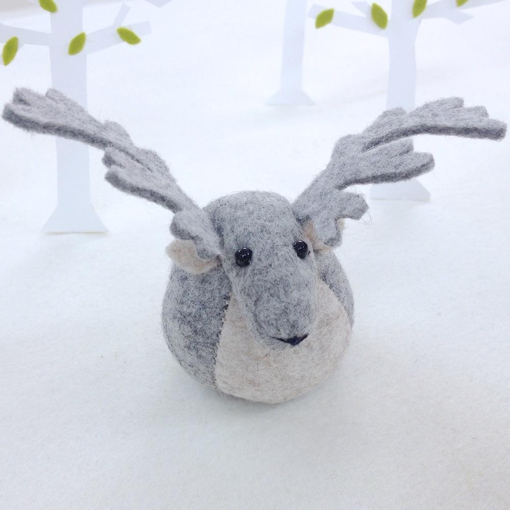 Handmade Rupert the Reindeer paperweight.