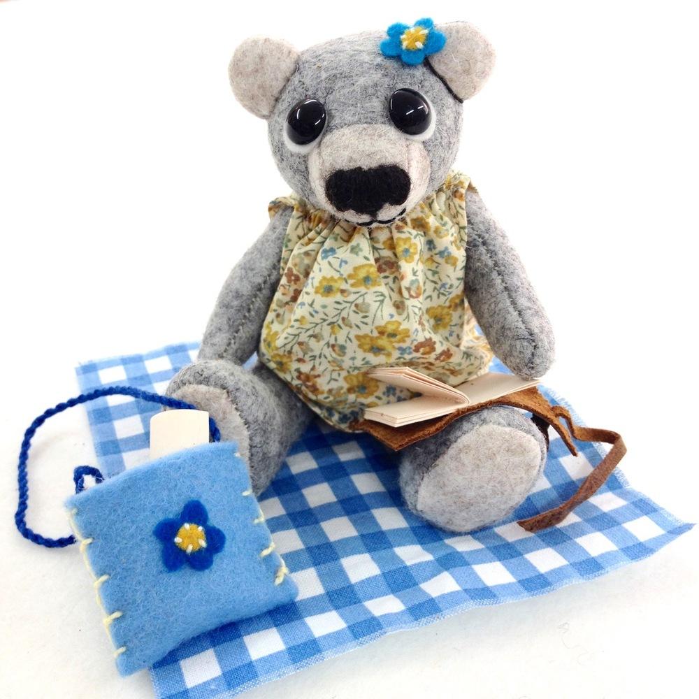 OOAK artist teddy bear Primrose.