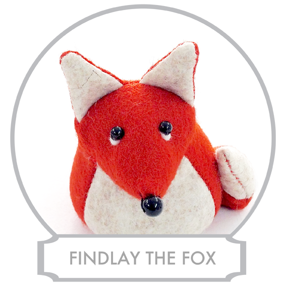 Findlay the Fox  is the youngest son of Mr and Mrs Fox and he has seven sisters and six brothers. Being the youngest of the family is not easy because everyone treats him like a baby and they often say that there is no point of telling him something because he wouldn't understand being too young!  READ MORE >