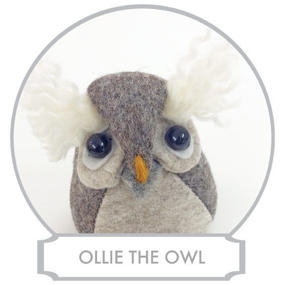 Ollie the Owl lives high up in the Tree and has a reputation of a wise owl or at least a very knowledgeable owl, but sometimes you do wonder when you see him bumping into branches when he's forgotten to swing his head back to see where he is going. He is doing that a lot since he is always observing what is going on below him and with his excellent eyesight and acute hearing, he's the one to ask what is going on in Bilberry Woods.  READ MORE >