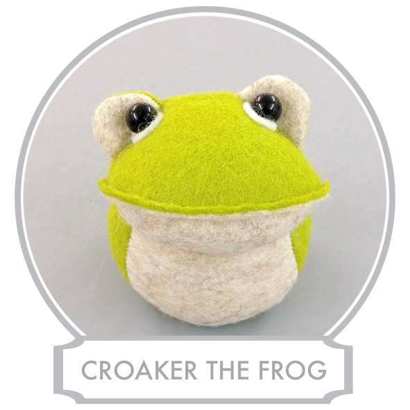 Croaker loves the River and the Lake and he is a superb river surfer. If it was up to him he would surf down the river all day long and hop back from one lily leaf to another at the dusk. He also loves the Lake where he is often windsurfing and having lovely long swims. But Mrs Croaker doesn't agree with this sort of time wasting and therefore he has to divide his time between the river and the household duties.  READ MORE >