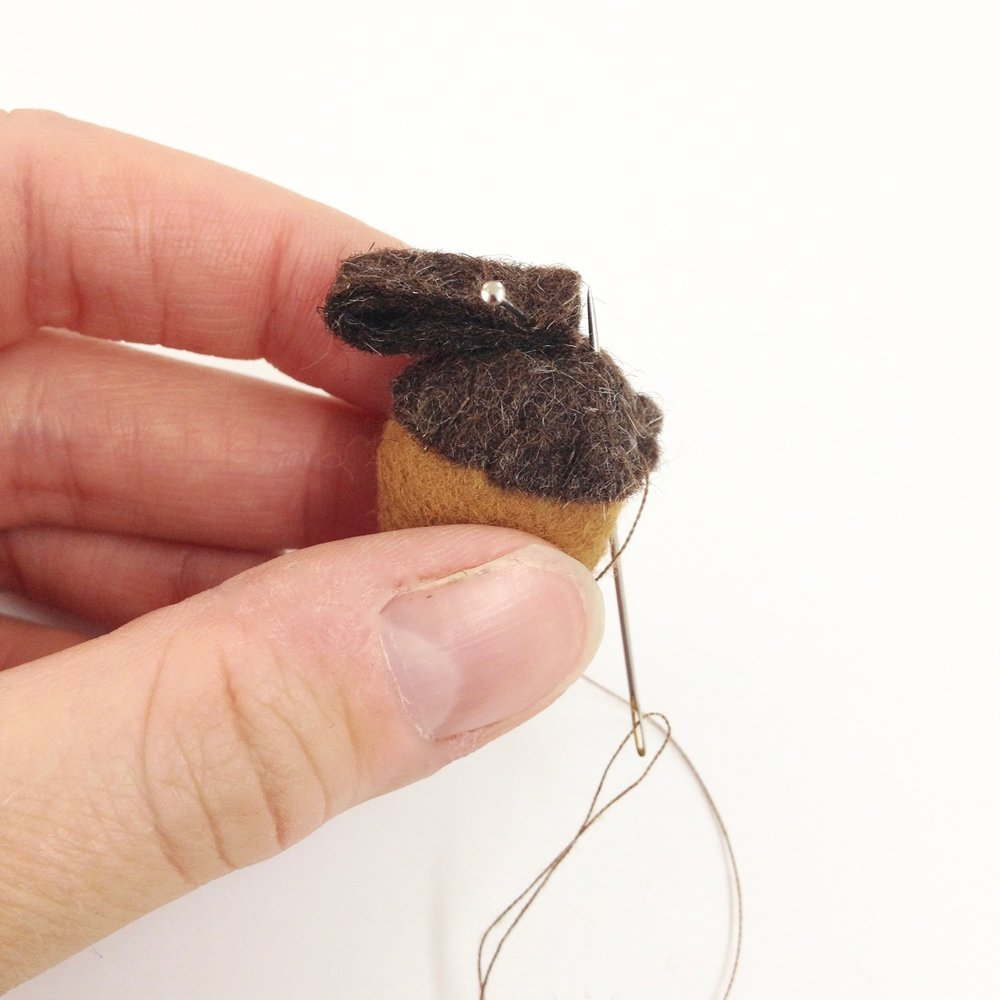 Felt acorn by Mirjami Design