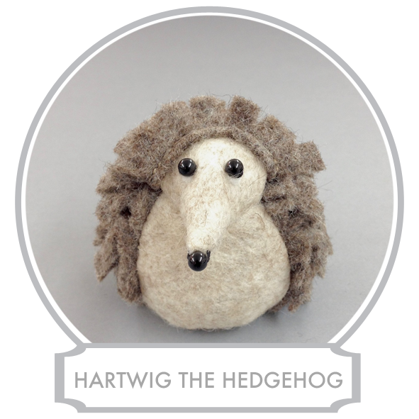 Hartwig the Hedgehog  runs the Village Shop in Bilberry Woods.Inside the shop is also the Post Office and Lost and Found which is where you take lost property. The shop is full of other things as well, groceries, magazines, sweets and all sorts of other useful, and some not so useful, things. And although the shop is full of things, everything has its dedicated place, beautifully arranged and Hartwig knows every item and where it is.  READ MORE >