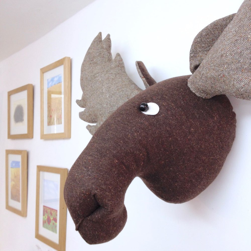 Bilberry Woods character Mr Moose wall hanging by Laura Mirjami | Mirjami Design