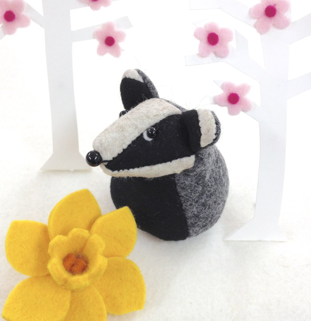Bilberry Woods character Bernard the Badger by Laura Mirjami | Mirjami Design