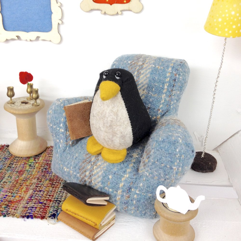 Bilberry Woods character Pedro the Penguin by Laura Mirjami | Mirjami Design