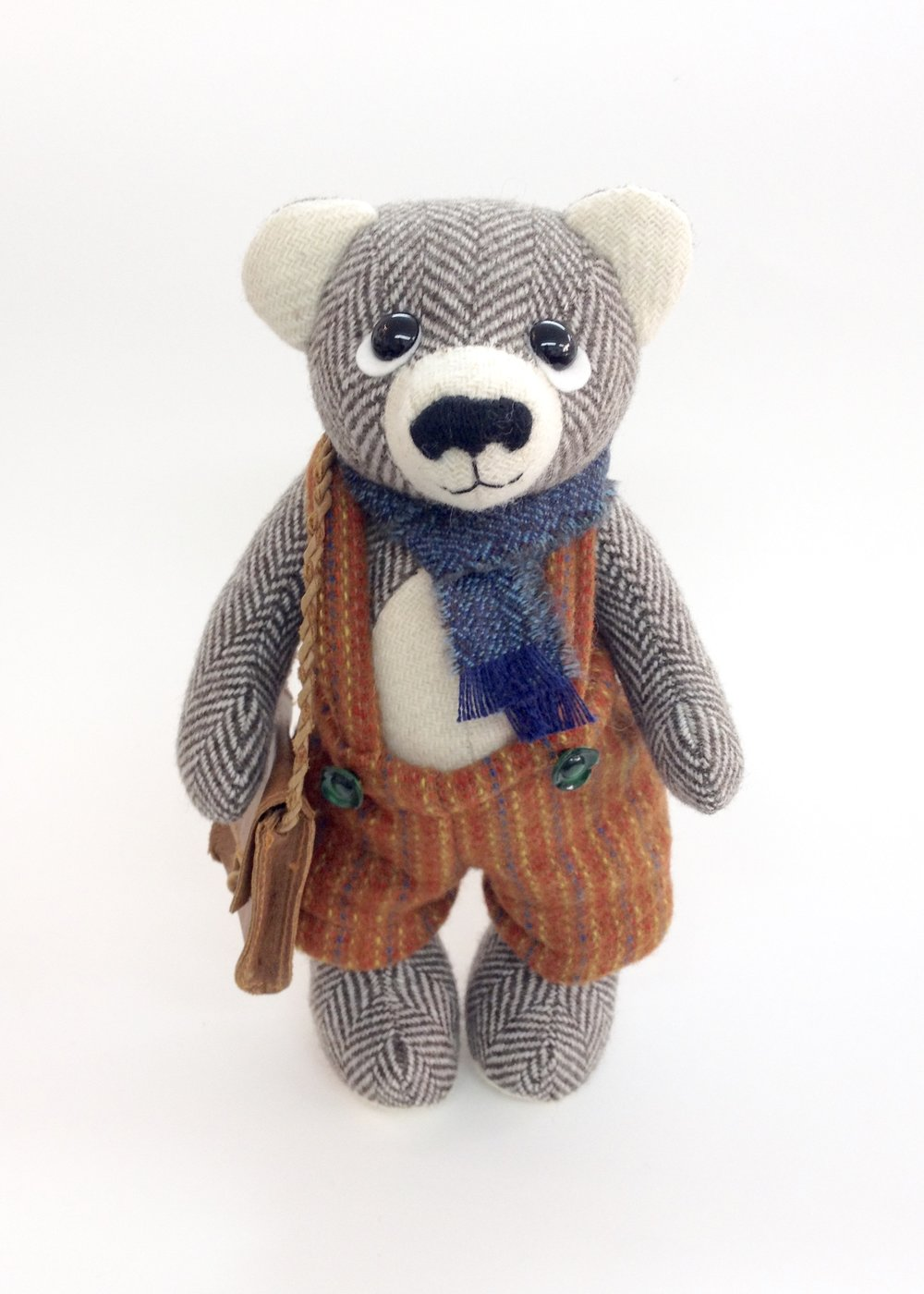 "Artist tweed teddy bear ""Lasse"" by Laura Mirjami 