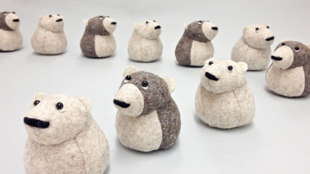 Bilberry Woods story book character wool felt animal figurines by Laura Mirjami | Mirjami Design