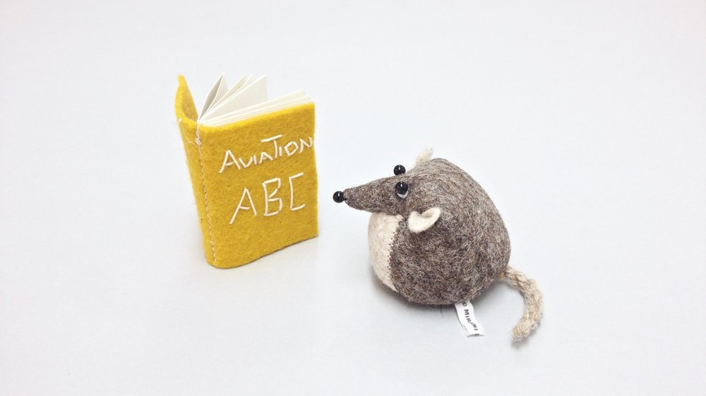 Bilberry Woods storybook character Henry the Harvest Mouse handmade from wool felt by Laura Mirjami | Mirjami Design.
