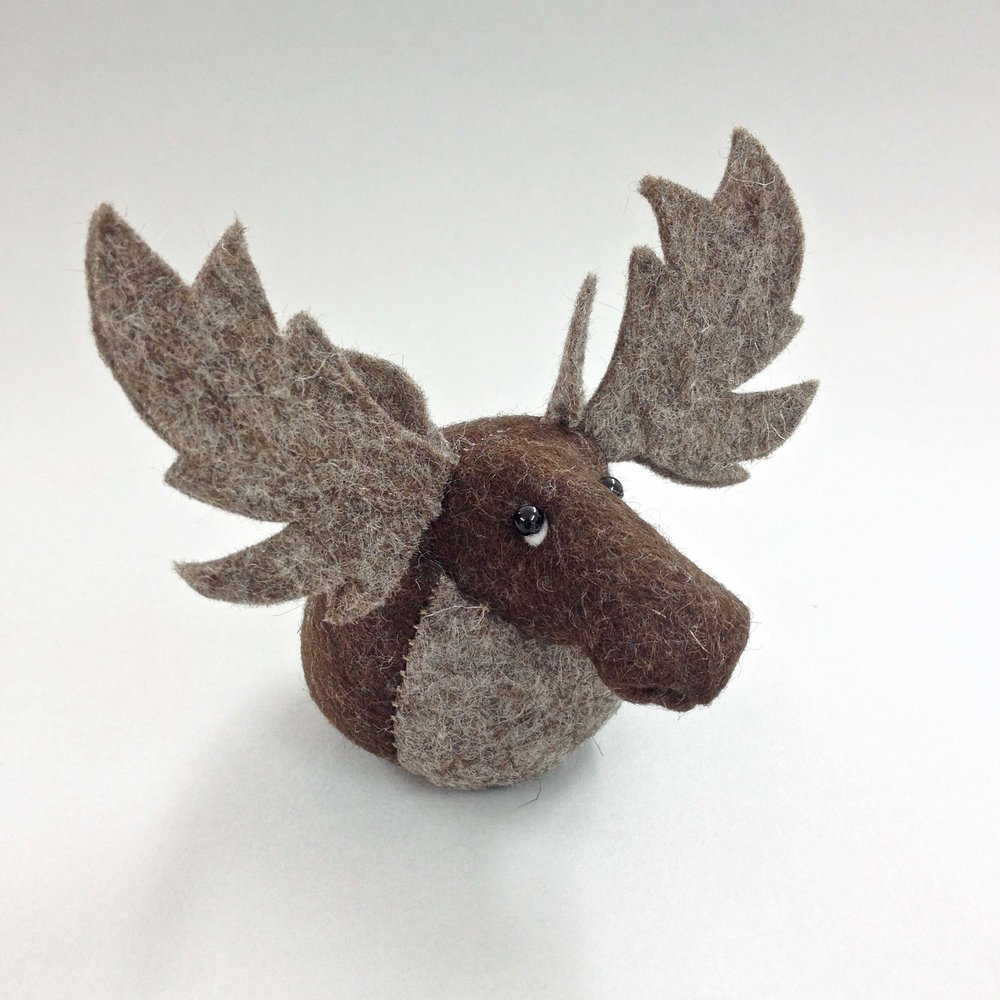 Bilberry Woods Character Mr Moose by Laura Mirjami