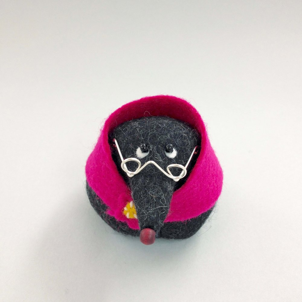 Bilberry Woods Character Mrs Mole by Laura Mirjami