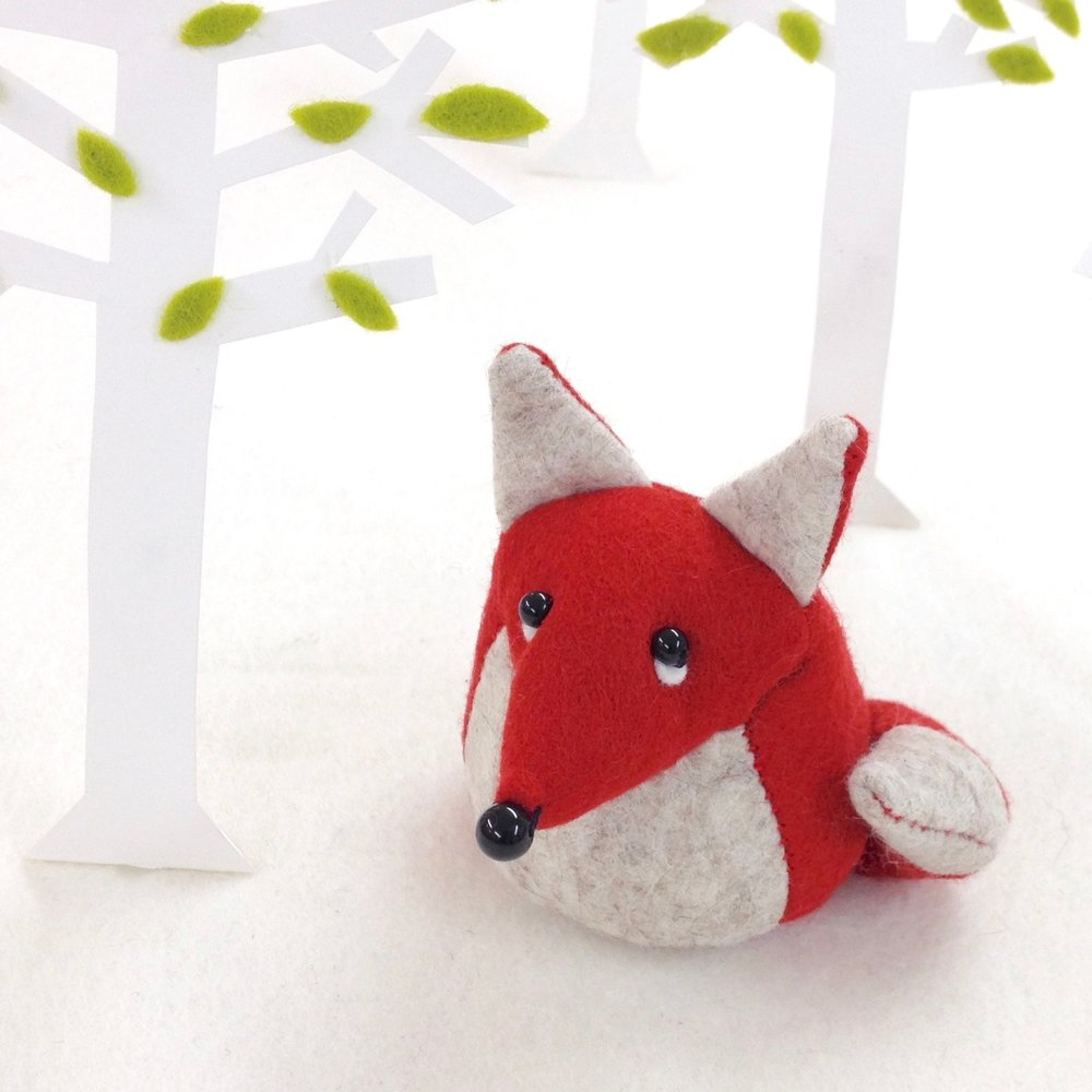 Bilberry Woods character Findlay the Fox soft sculpture paperweight. copy.jpg