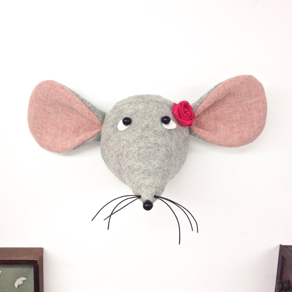 Felt Mouse Faux Taxidermy by Laura Mirjami