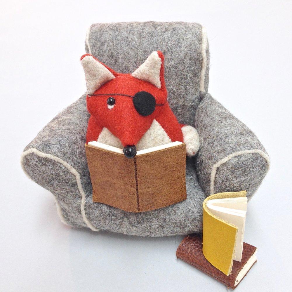 Bilberry Woods character Findlay the Fox handmade by Laura Mirjami