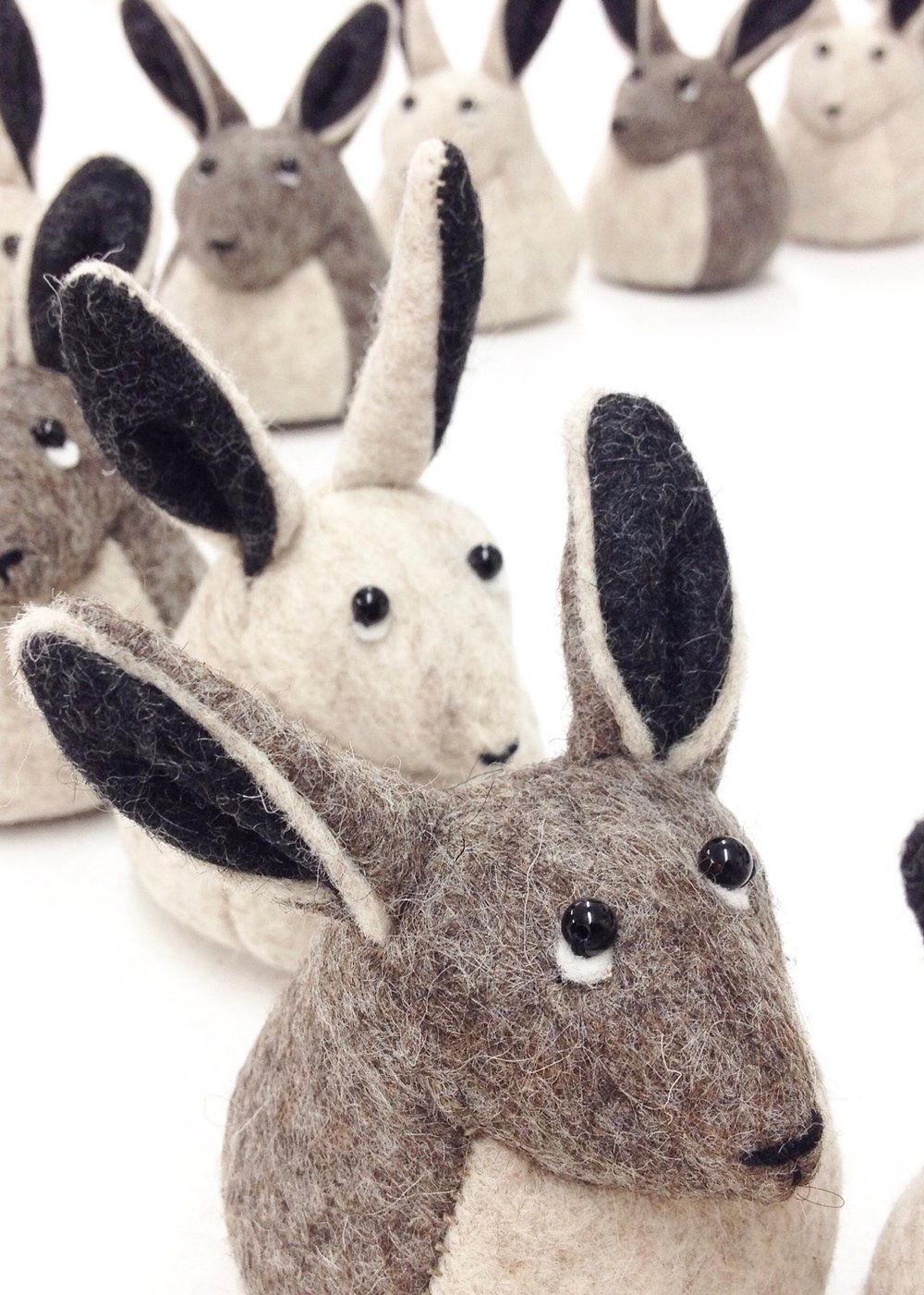 Bilberry Woods storybook characters as cute felt soft sculpture figurines that could be used as paperweights by Laura Mirjami | Mirjami Design